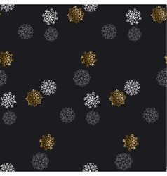 Flake of snow seamless pattern christmas backdrop vector