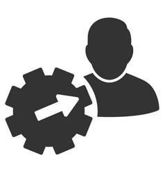 user integration api gear flat icon vector image