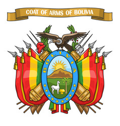 Bolivian coat of arms vector
