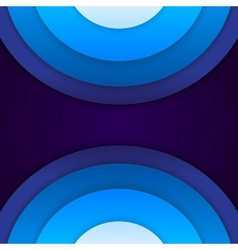 Abstract blue paper circles background vector image