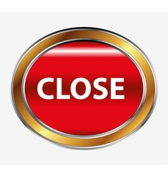 Close button sign vector