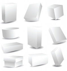 Packaging boxes vector