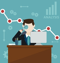 Web analytics information and development website vector