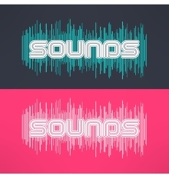 music stylish background with equalizer vector image