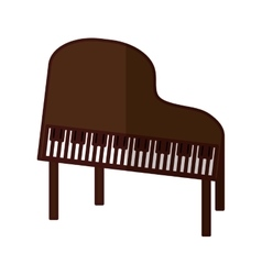 classic piano icon image vector image