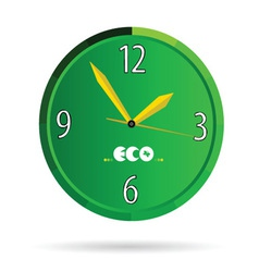 eco green clock color vector image