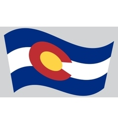 Flag of colorado waving on gray background vector