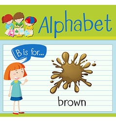 Flashcard letter B is for brown vector image vector image