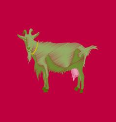flat shading style icon goat vector image