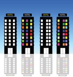 hotel art vector image