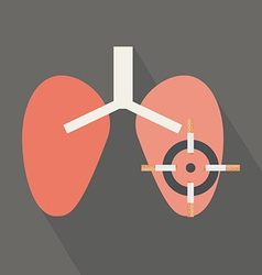 Lungs cancer cause by cigarettes vector