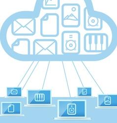 Modern cloud technology computer network vector image