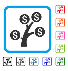 money tree framed icon vector image vector image