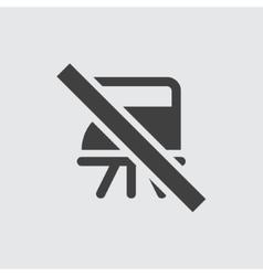 No ironing icon vector image