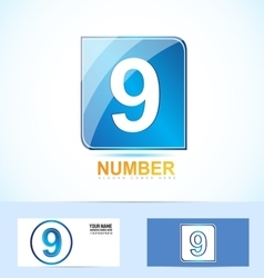 Number nine 9 logo vector