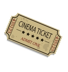 Old vintage paper ticket vector image
