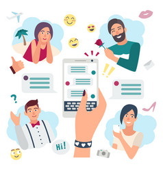 online speaking concept chatting with friends vector image