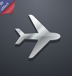 Plane icon symbol 3D style Trendy modern design vector image