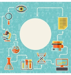 Science concept background in flat design style vector image vector image