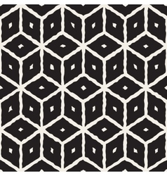 Seamless hand painted line geometric cube vector