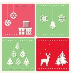 Set of winter celebration images vector image vector image