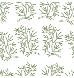 Stylized dill seamless pattern vector