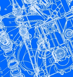 technical drawing background vector image vector image