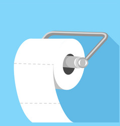 Toilet paper icon flat style vector