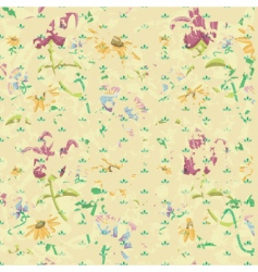 vintage grunge background with flowers vector image vector image