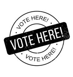 Vote here rubber stamp vector