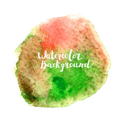 watercolor background with lettering vector image vector image
