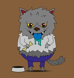 Werewolf cartoon vector