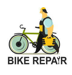 Bicycle repair vector