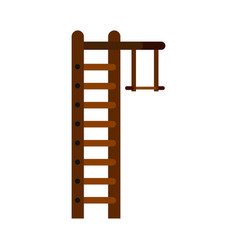 swedish ladder icon flat style vector image