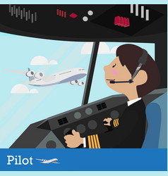 pilot design vector image