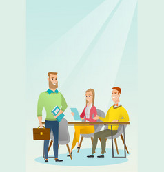 Business partners working in office vector