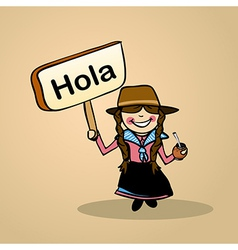 Hello from Uruguay people vector image