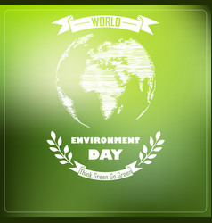 World environment day of shape typography vector