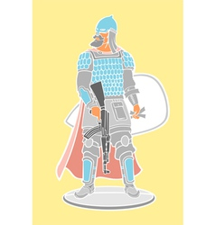 Strong warrior vector