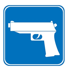 Gun allowing sign vector image