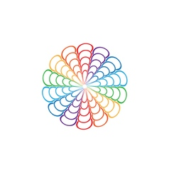Rainbow Mandala Round Ornament vector image