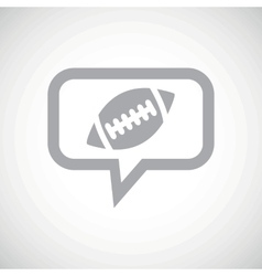 Rugby grey message icon vector