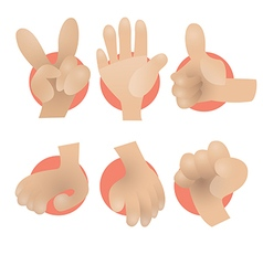 Hand preview vector