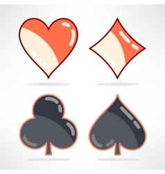 Set of playing cards suits icons in modern vector