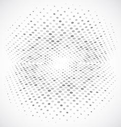 Blue Halftone Circle Design vector image