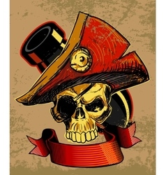 Pirates Skull Doodle vector image