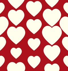 Valentine pattern Seamless texture with hearts vector image