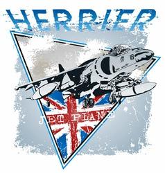 jet plane herrier vector image