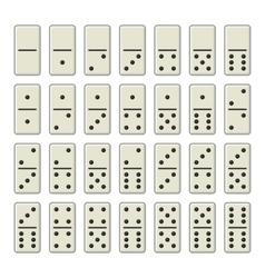 Domino Bones Complete Set on White Background vector image