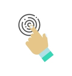 Touch icon with hand vector